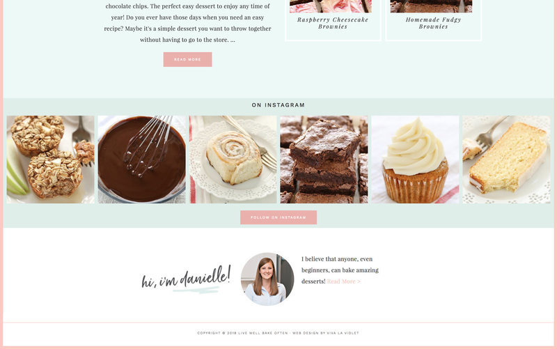 Handcrafting Heartfelt Brand & Website Designs for Female Creatives |  Showit | Showit Templates | by Viva la Violet | Live Well Bake Often