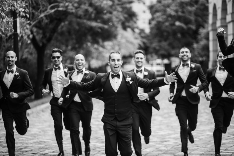 Groomsmen in toronto downtown wedding at osgoode hall