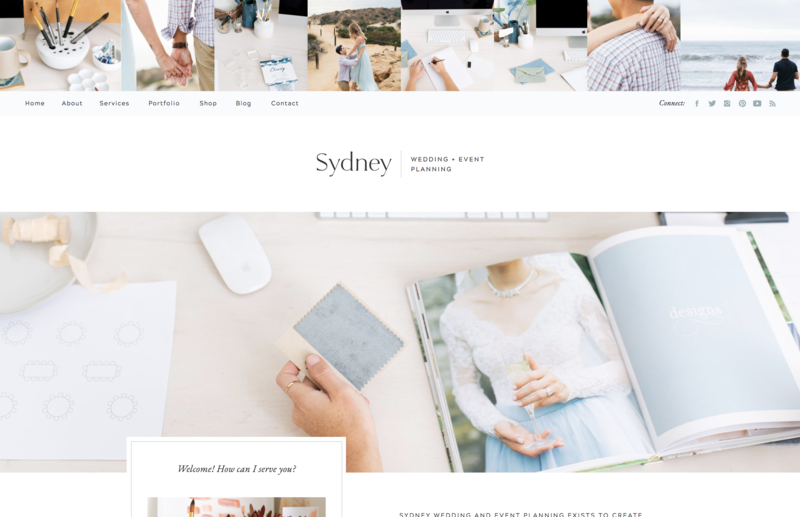 with grace and gold website template sydney