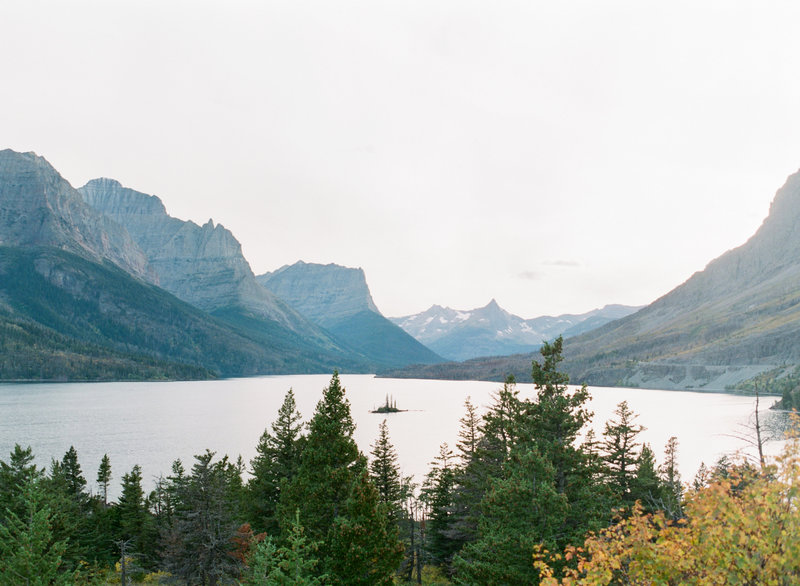 saint mary lake, glacier national park, montana
