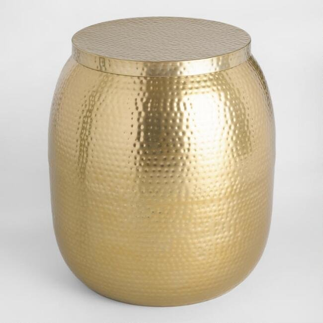 Hammered Gold Accent table