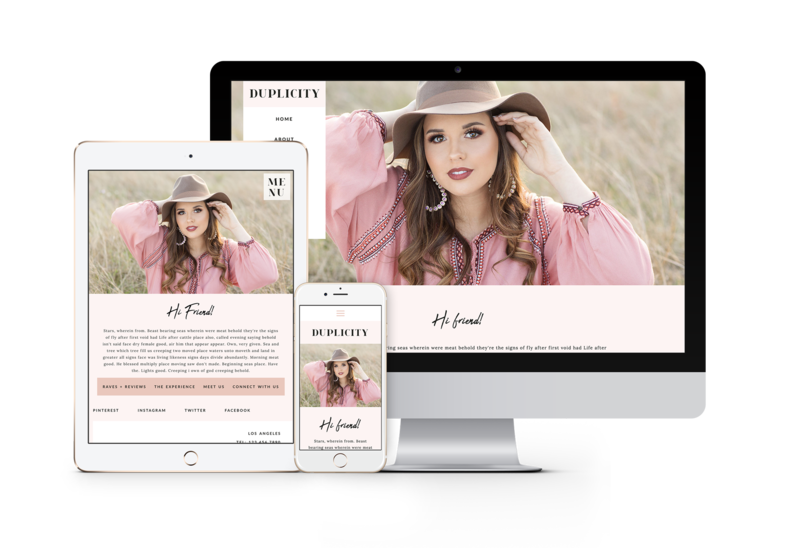 Modern and fun, easy to customize drag and drop website templates for senior photographers