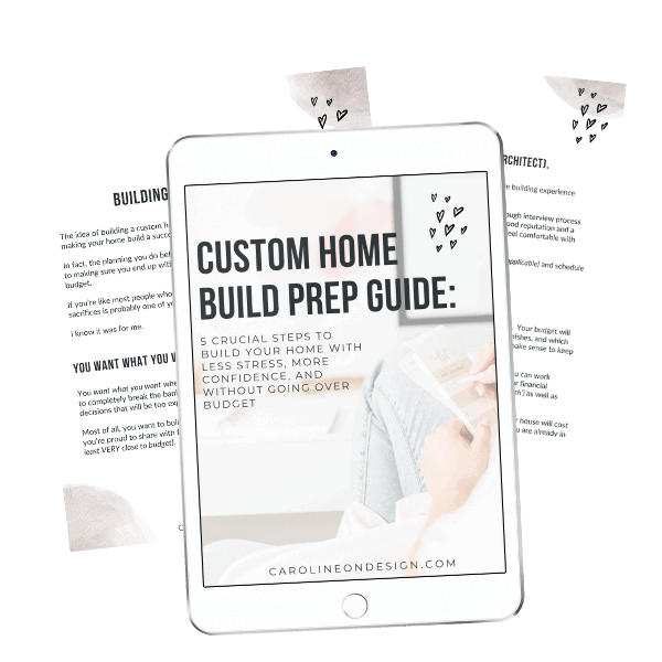 custom home build prepguide