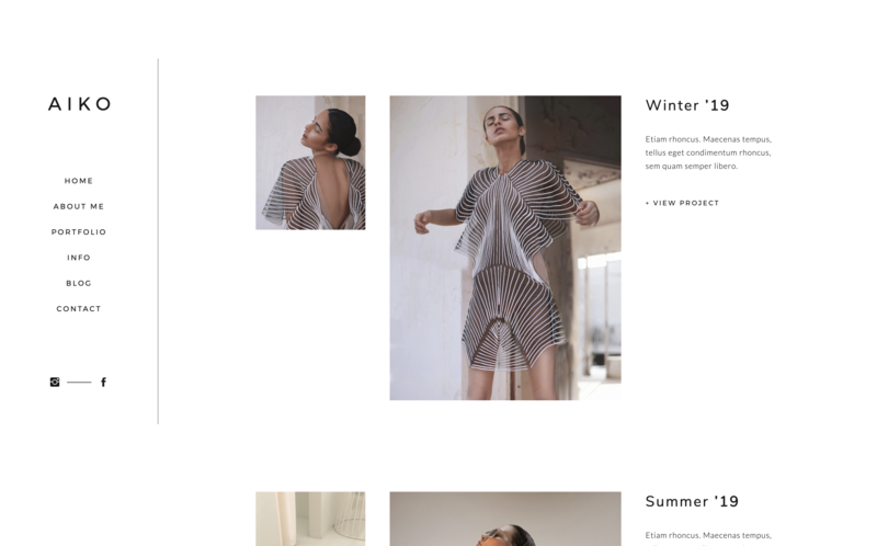 Showit theme for designers and creatives - mininalistic, strong and female 07