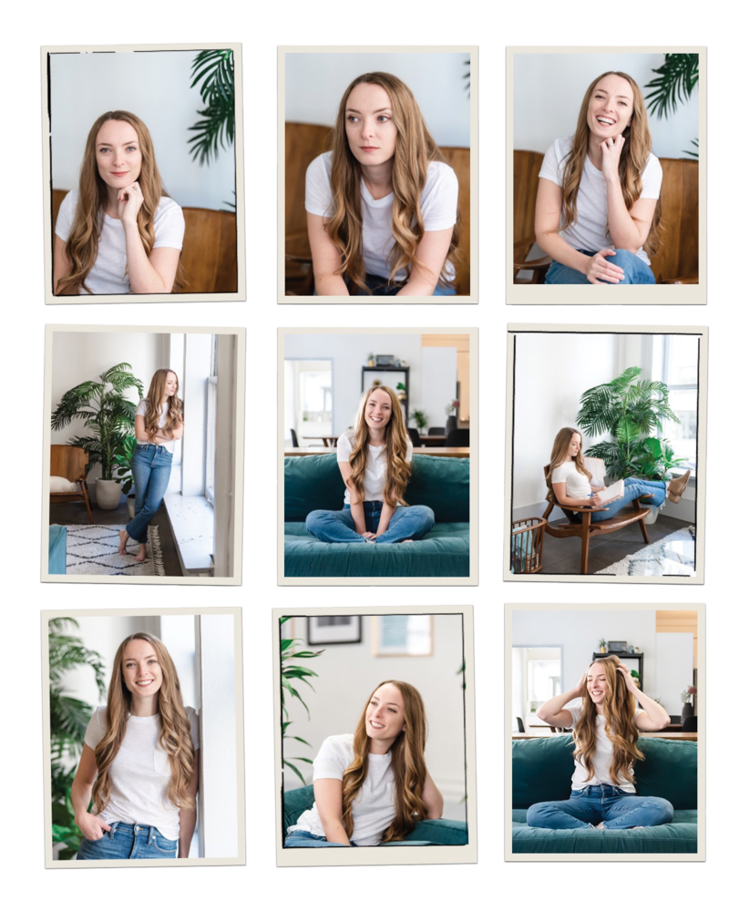 fun photo layout of the many emotions of halley lutz