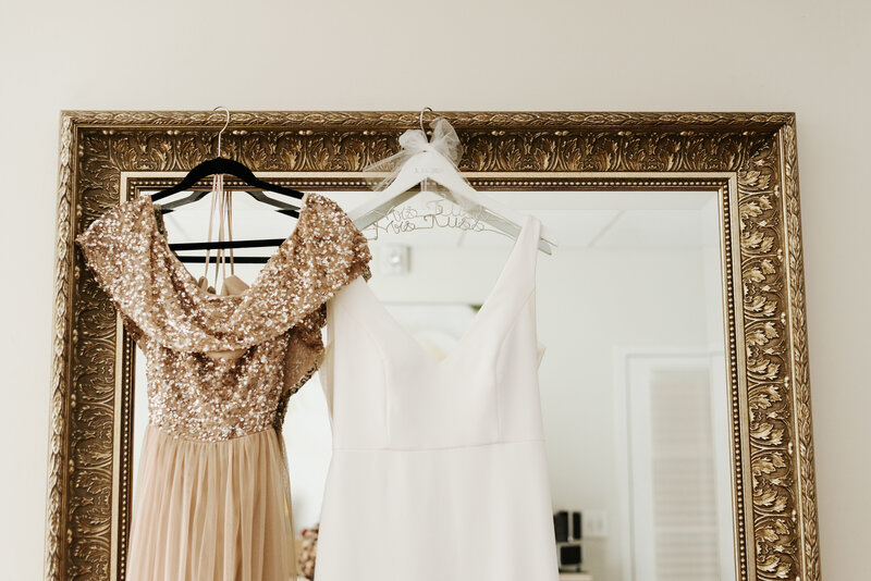 "alt=""Bride and bridesmaid dress"""