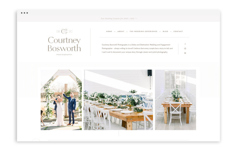 Courtney Bosworth Photography - Custom Brand and Showit Web Design by With Grace and Gold - Showit Theme, Showit Themes, Showit Template, Showit Templates, Showit Design, Showit Designer - 0