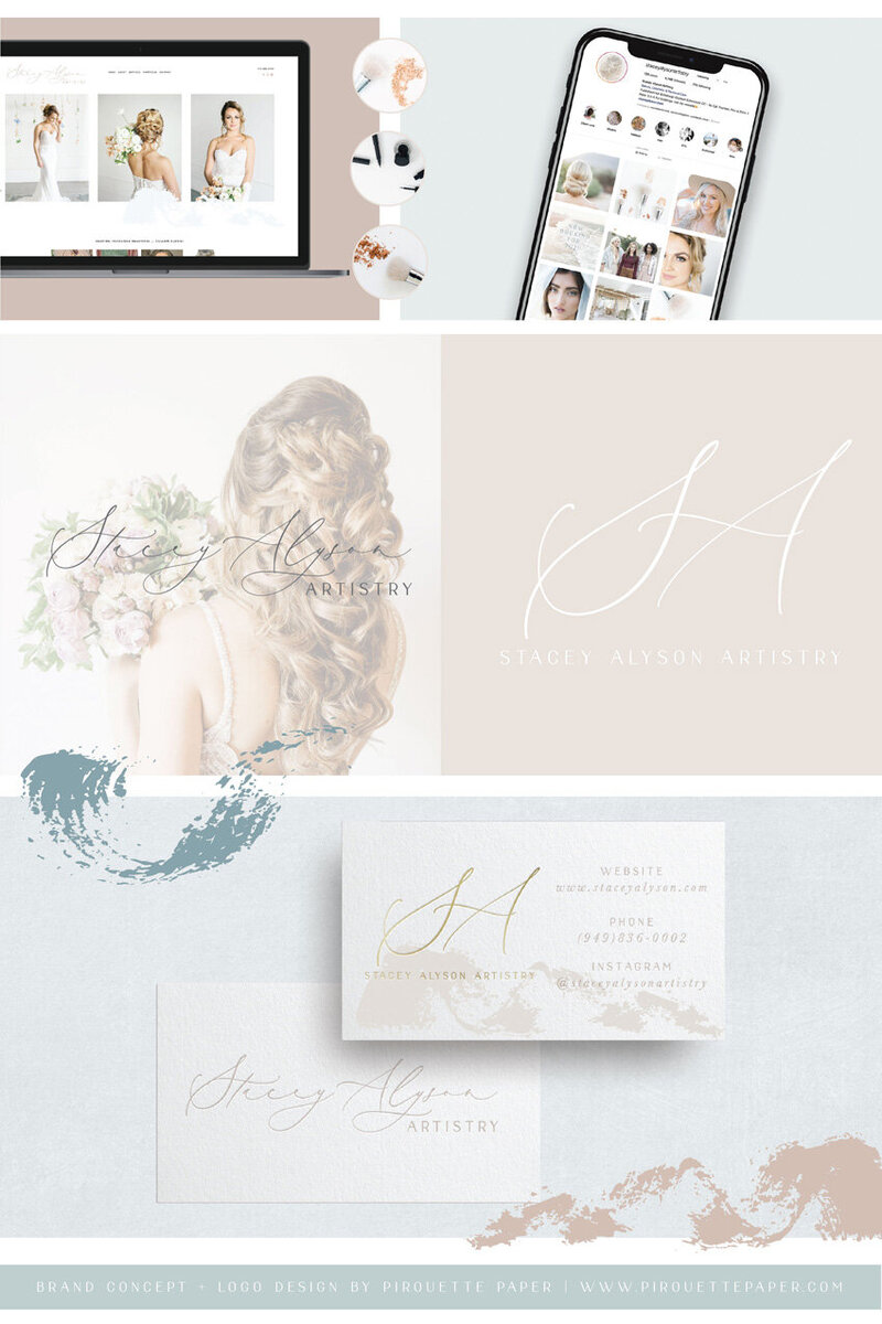 pirouettepaper.com | Logo Design + Branding | Pirouette Paper Company | Stacey Alyson Artistry Wedding and Photoshoot Hair and Makeup in Orange County, CA  10