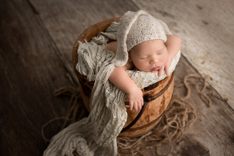 columbus ohio newborn photographer baby boy vintage honey bucket
