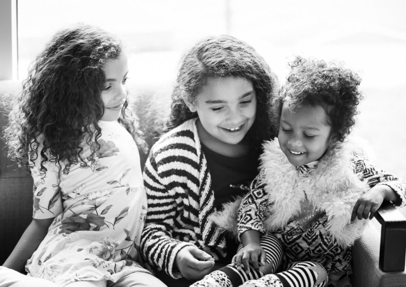 Photo of GEM Photography's Raina McMillan 's three nieces to whom the company is named after