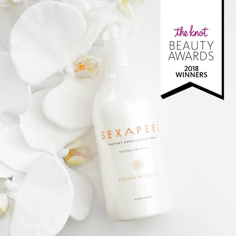 Sonia Roselli Beauty Sexapeel Exfoliation Spray wins The Knot Beauty Award