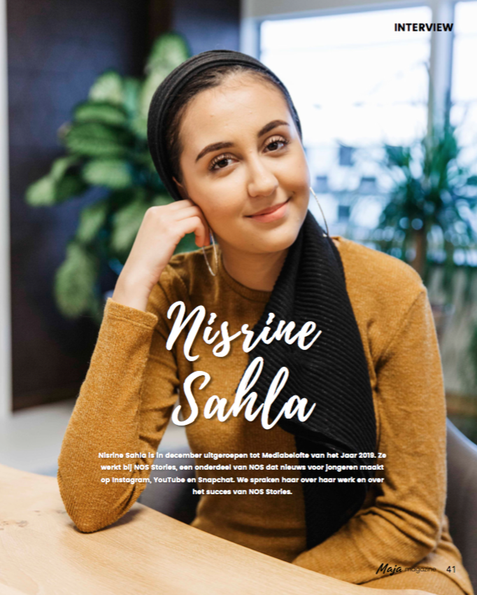 Maja magazine - interview Nisrine