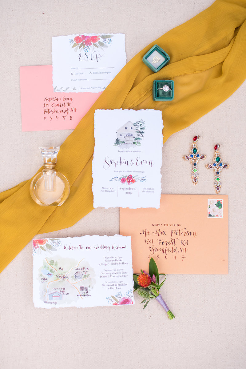 wedding detail flatlay