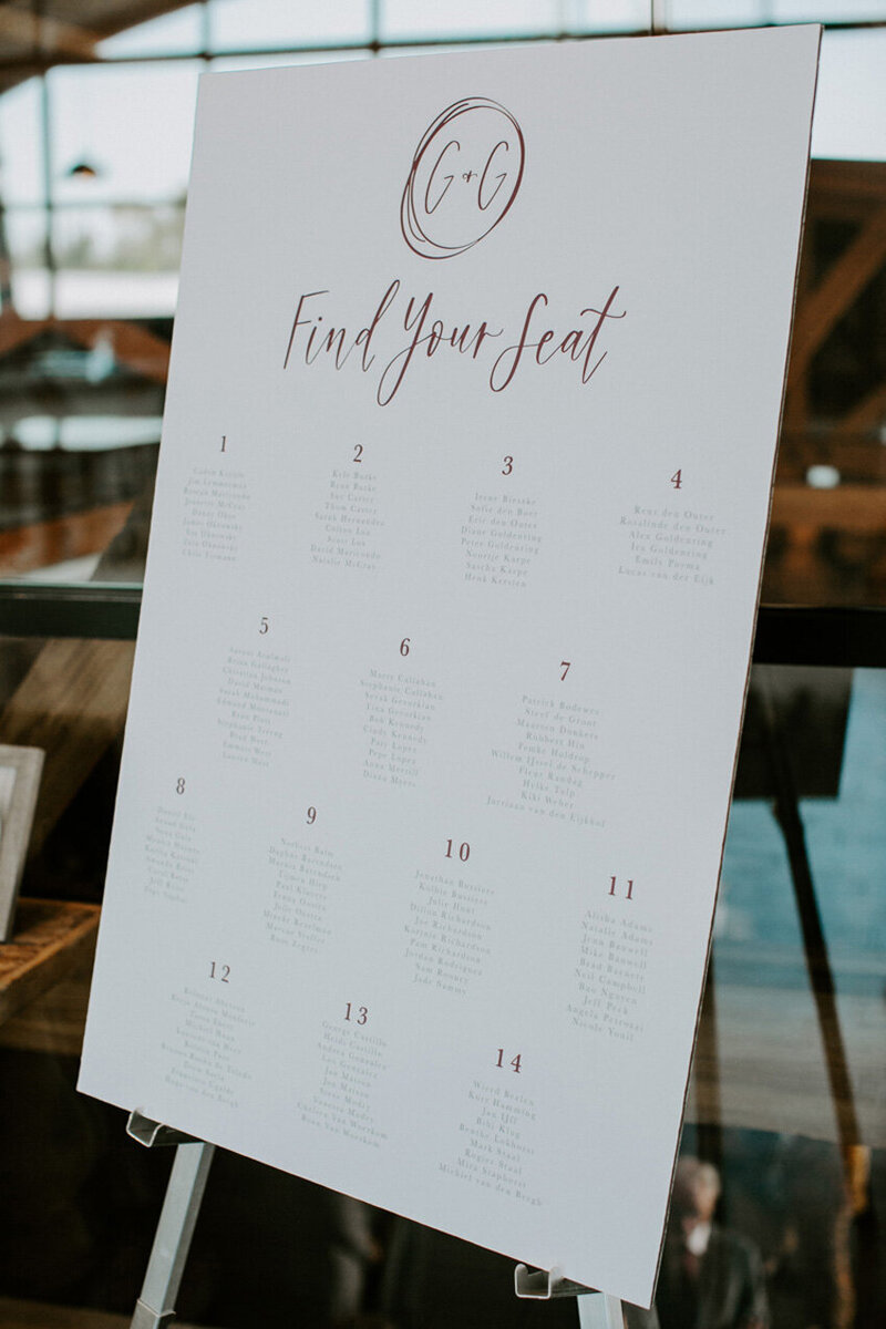 pirouettepaper.com | Wedding Stationery, Signage and Invitations | Pirouette Paper Company | Seating Charts 11
