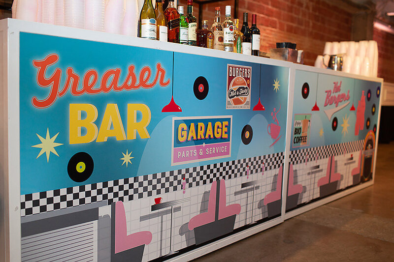 greaser bar pop parties sock hop theme dallas event planner