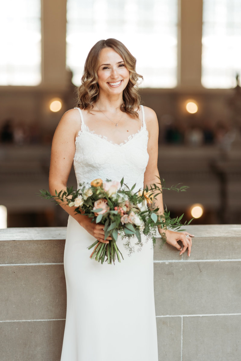 San Francisco City Hall  Bridal Portrait