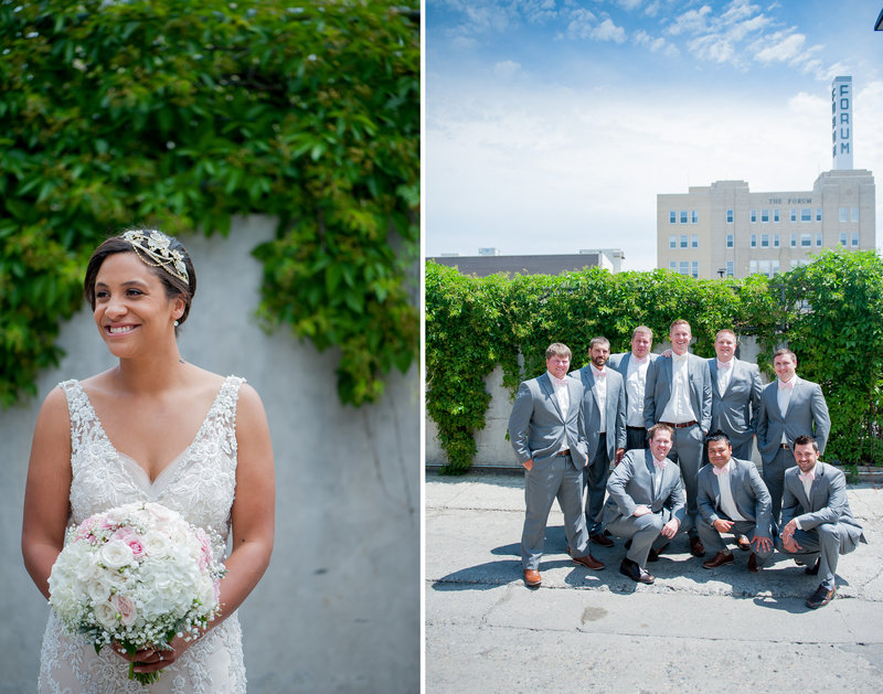urban fargo wedding party by kris kandel photography
