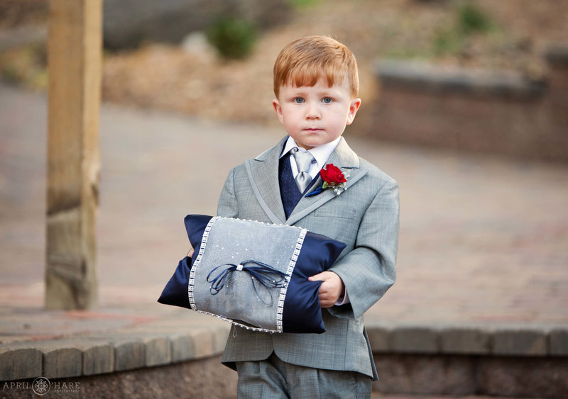Ringbearer on the Aspen Terrace at Pines at Genesee