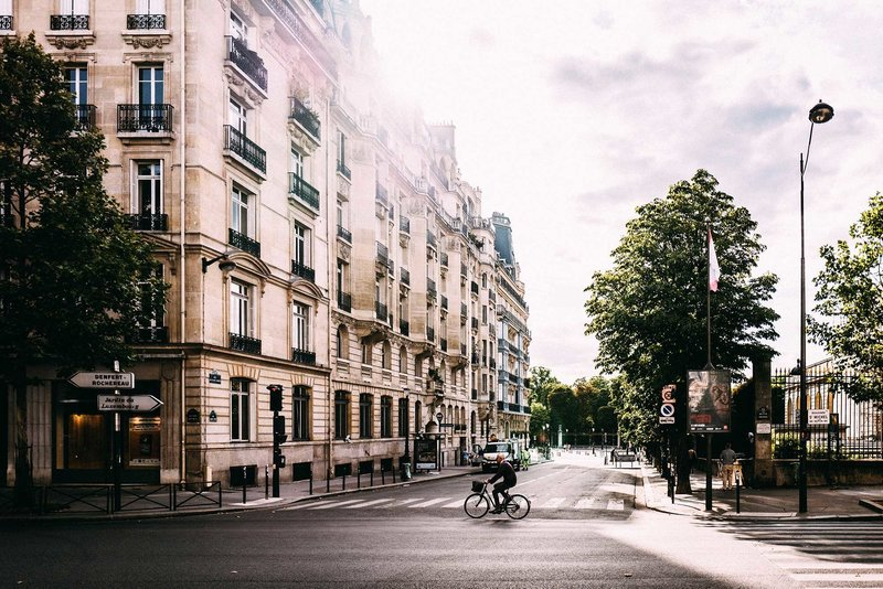 Aesthetic layout photo of Paris