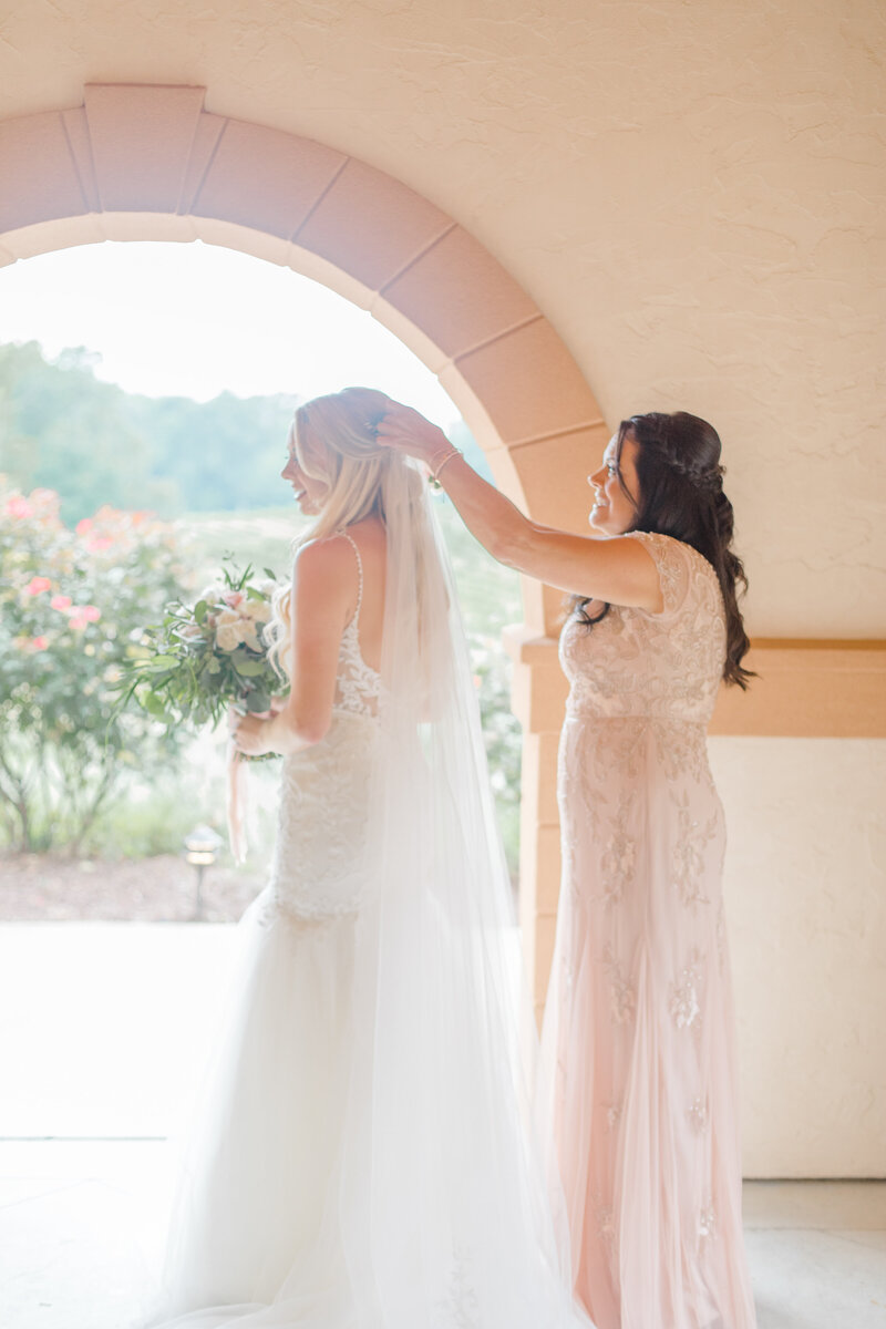 bride getting ready at Running Hare Vineyard Wedding photographer costola photography