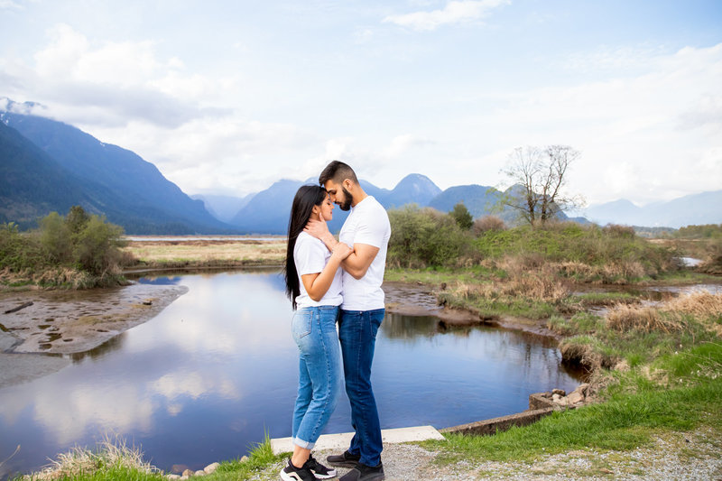 engaged couple in pitt meadows