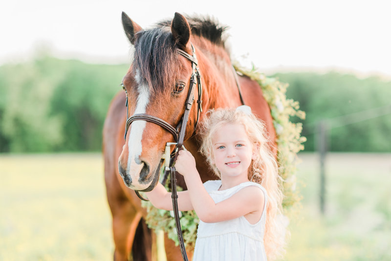 little girl with her pony