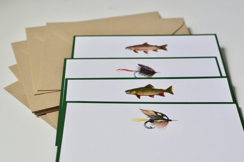 fish and bait stationery set