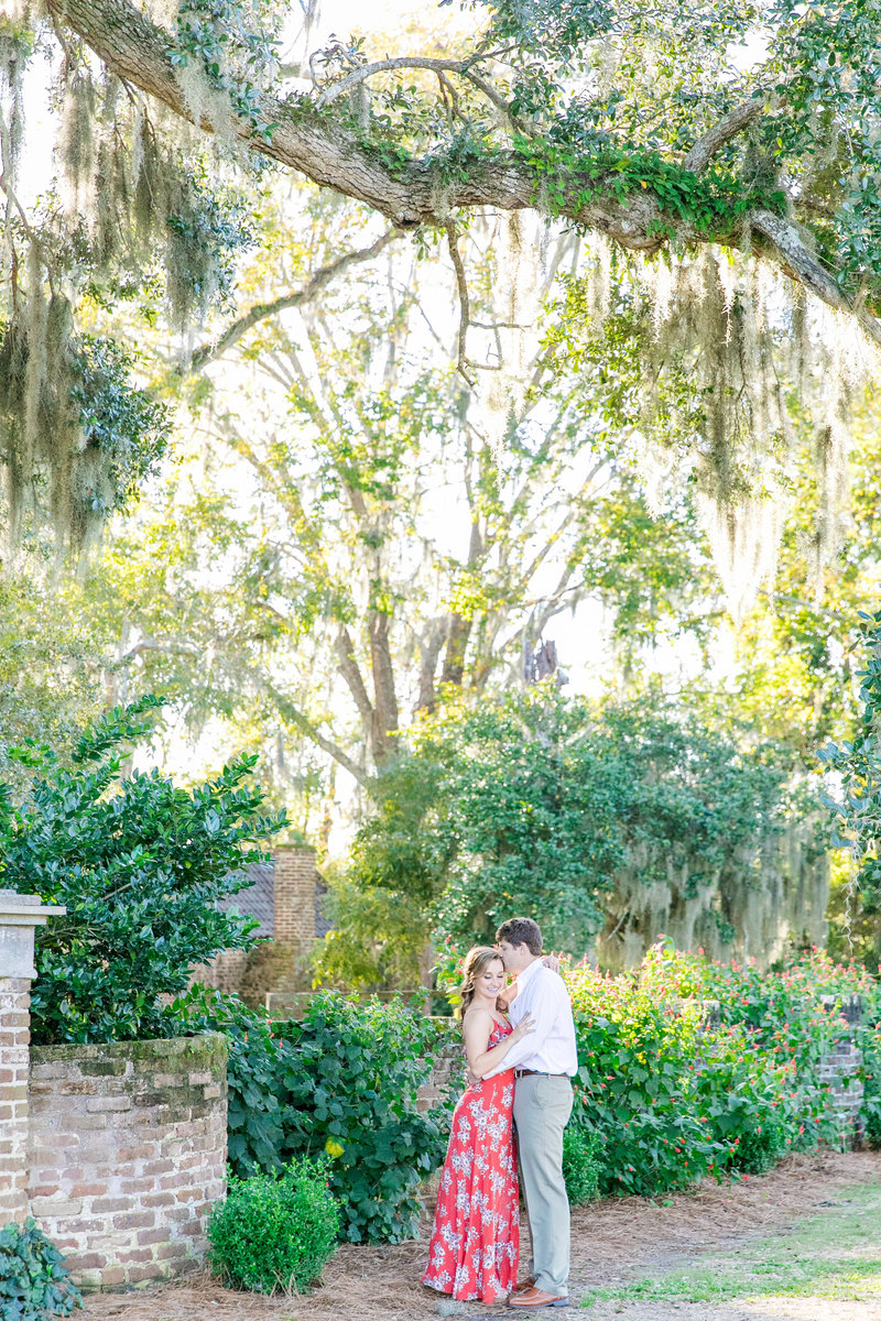 boone hall charleston engagement session