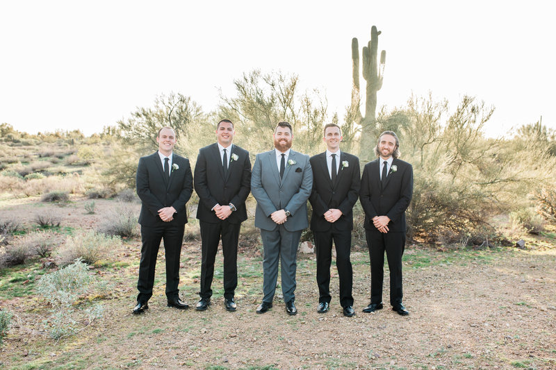groomsman desert portraits at The Paseo