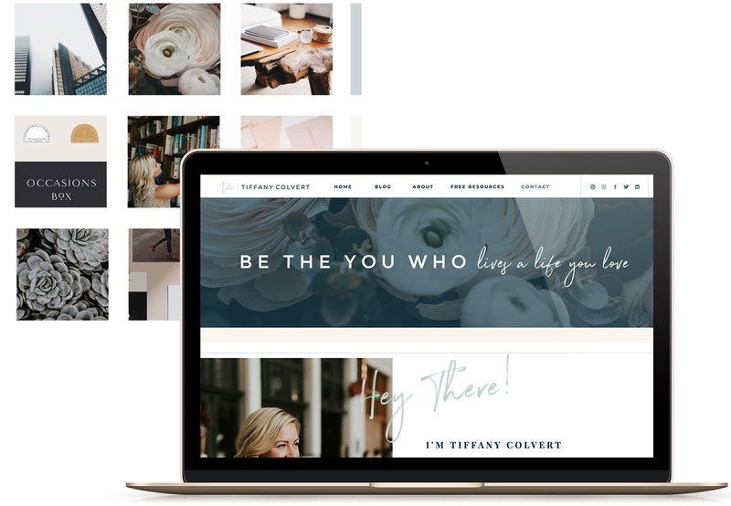 Heartfelt Web Designs & Branding for Female Creatives by Viva la Violet | Showit Designer | Showit Templates | Showit