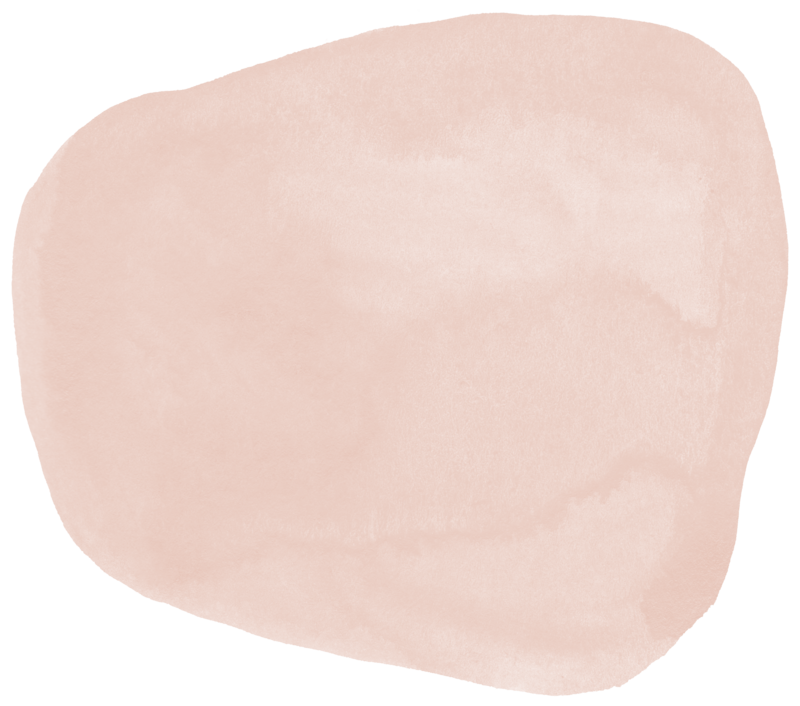 pink water color blob