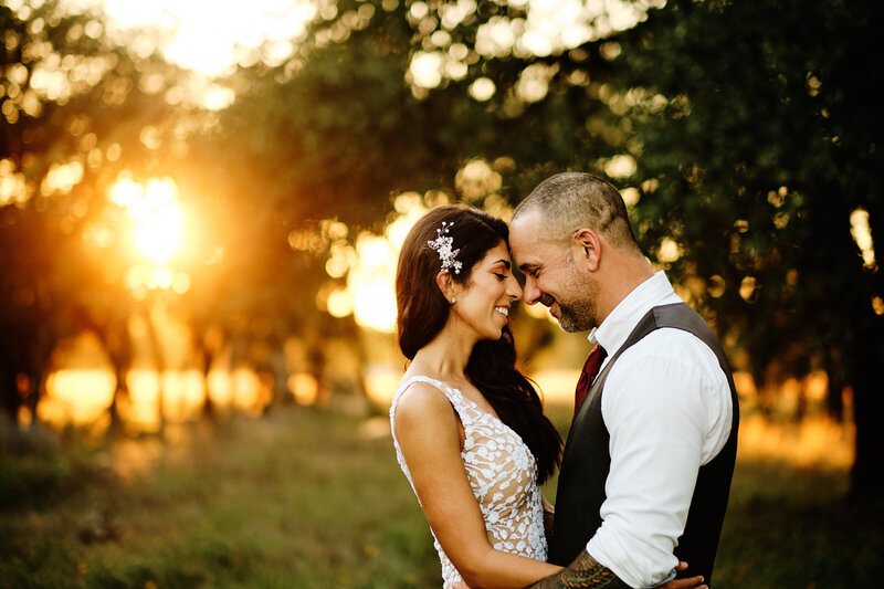 Golden Hour couple in Dripping Springs Texas