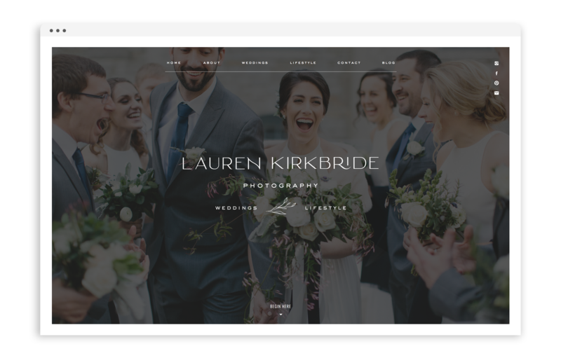 Lauren Kirkbride Photography - Custom Logo Design and Showit Website Design by With Grace and Gold - Photo - 0