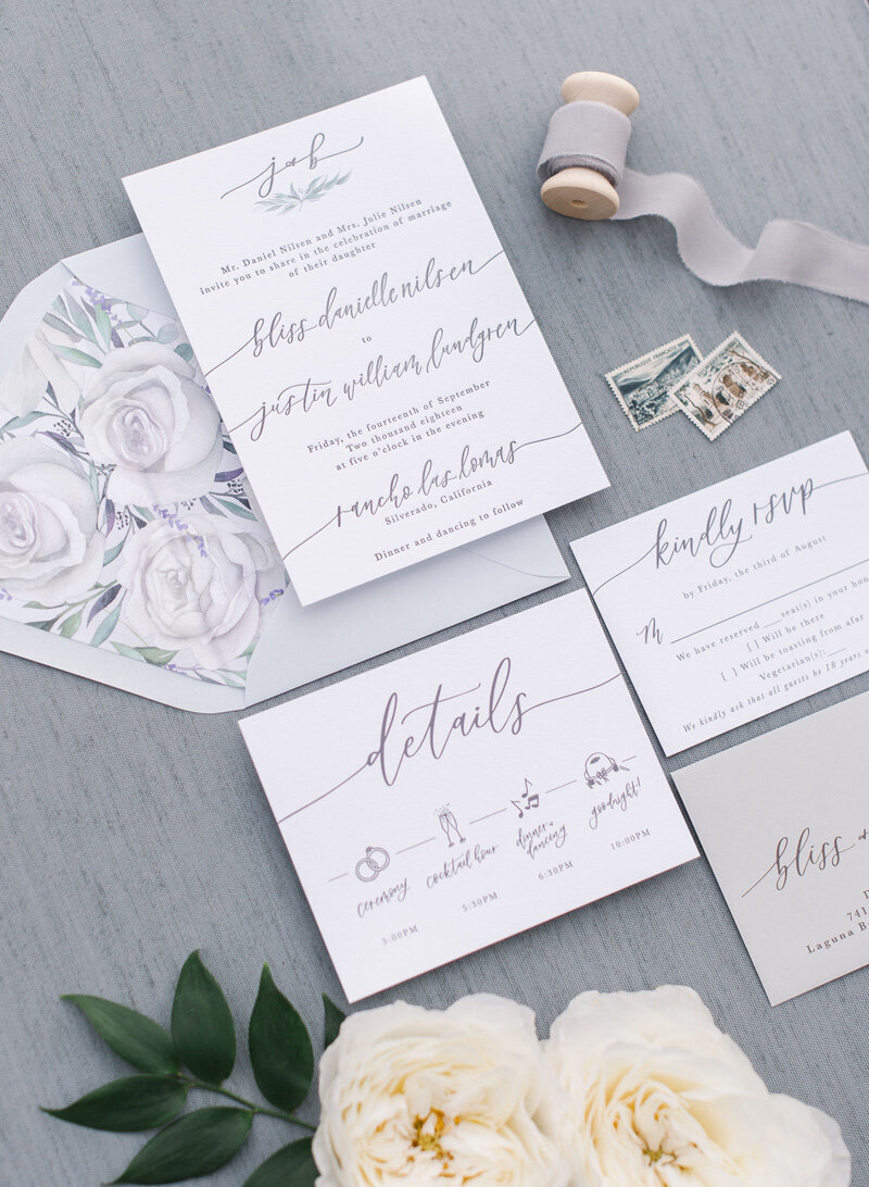 pirouettepaper.com | Wedding Stationery, Signage and Invitations | Pirouette Paper Company | Rancho Las Lomas Wedding | Penelope Pots Floral Design | The McCune Photography_ (65)