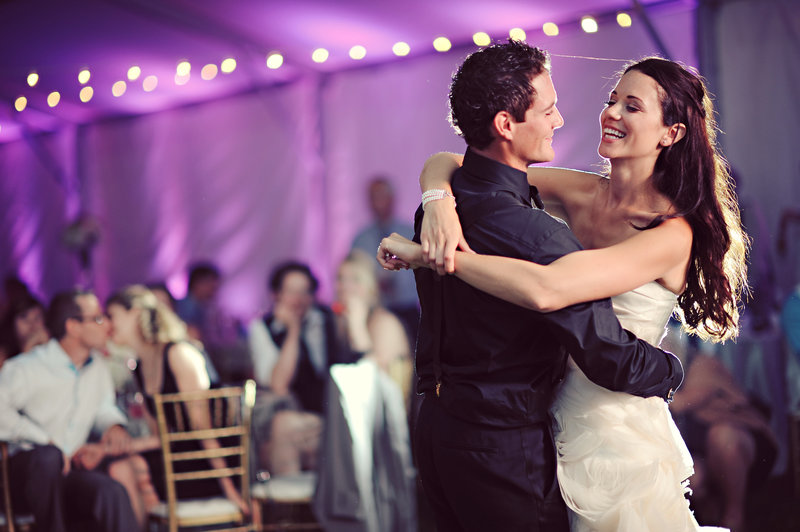 First dance at a Calgary tent wedding