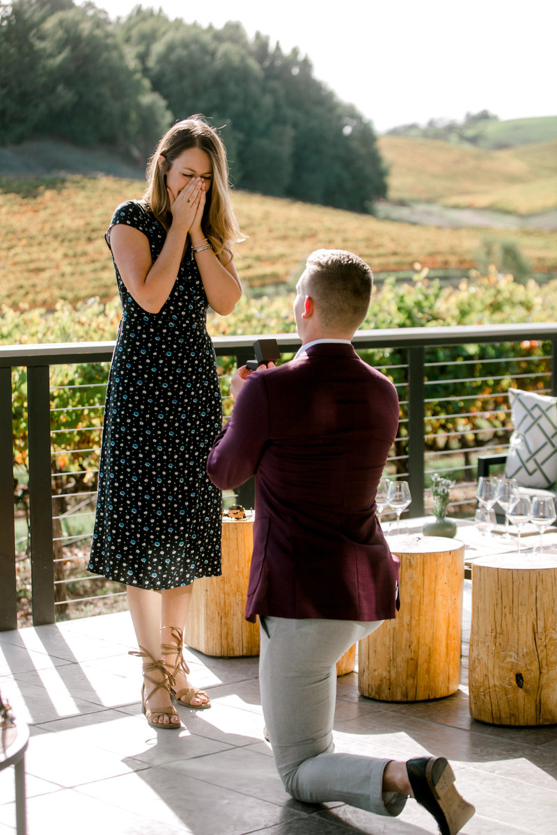 down on one kee proposing at macrostie winery in healdsburg