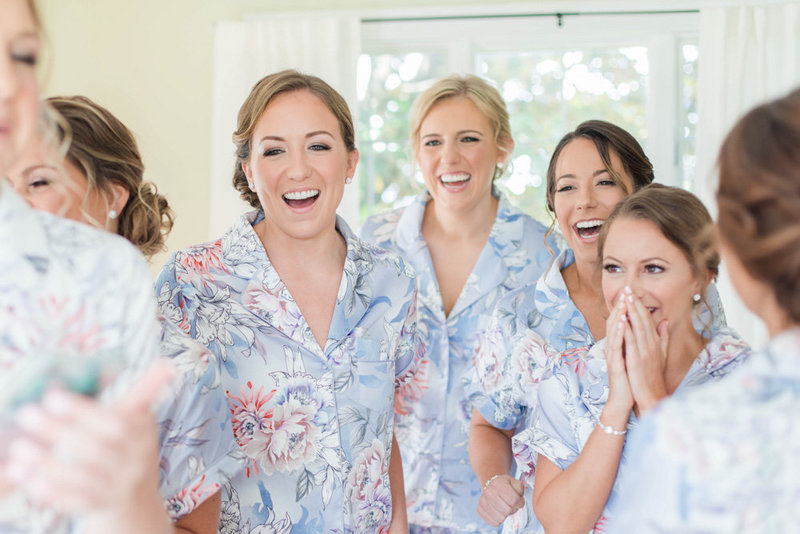 bridesmaids getting ready in manor at eastern shore wedding at kirkland manor by costola photography