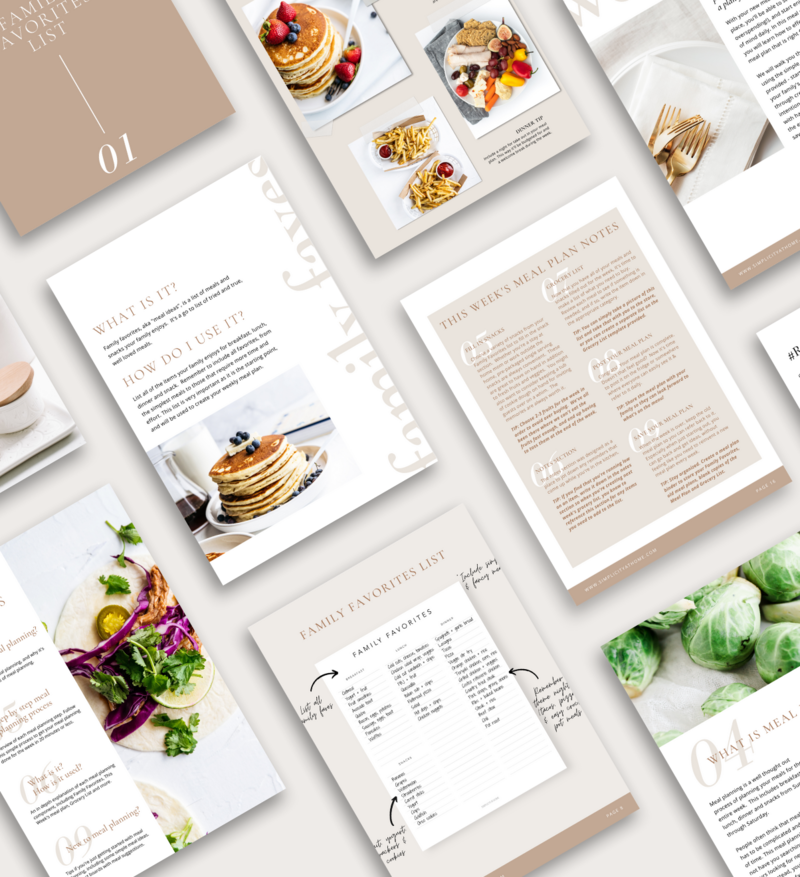 Start creating meaningful memories with simple meals and a little bit of planning with this ultimate meal planning guide.