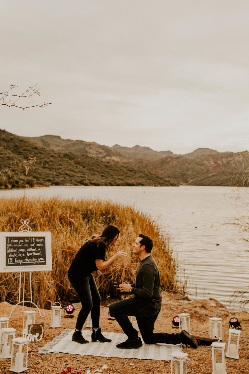 Saguaro Lake Surprise Proposal in Fort McDowell | Phoenix Wedding Photographer80