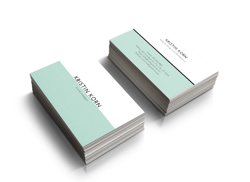 Created by Kristin Business Card Mock-Up 2