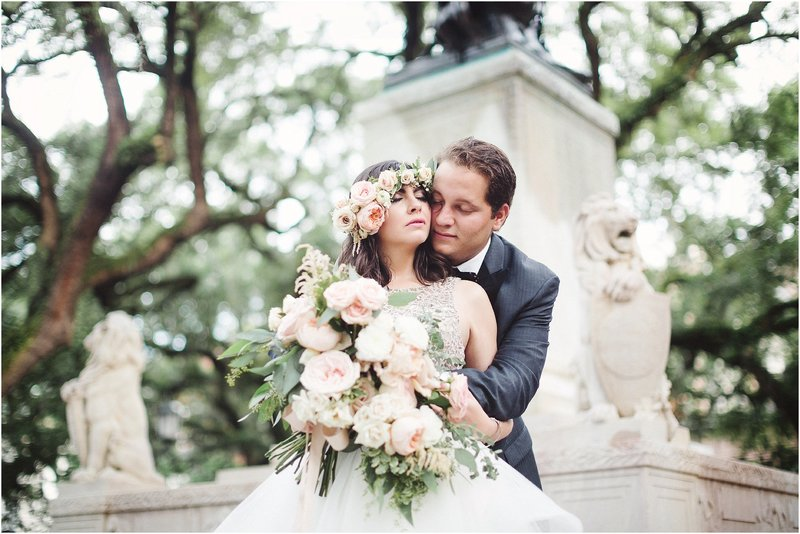 blush latino wedding in Savannah