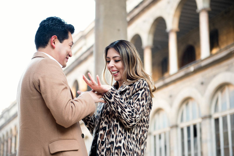 Renato made a surprise proposal to Yessica during their Paris photoshoot with Shantha Delaunay.