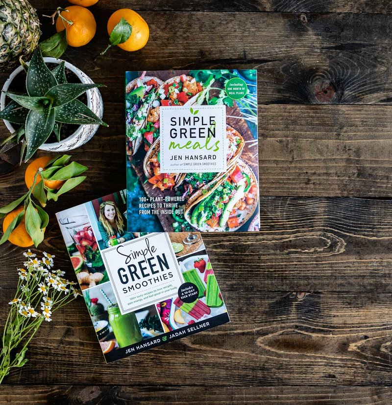 Plant-based recipe books by Jen Hansard