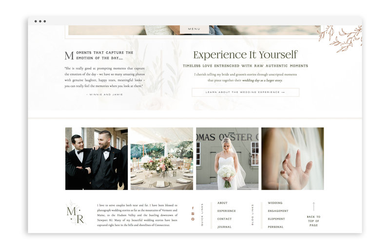 Melanie Ruth Photography - Custom Showit Web Design by With Grace and Gold - Photo - 3
