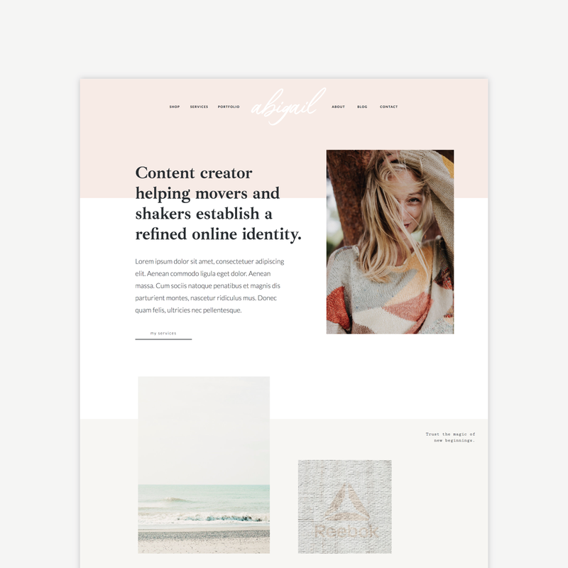 The Roar Showit Web Design Website Template Abigail Shop Layout