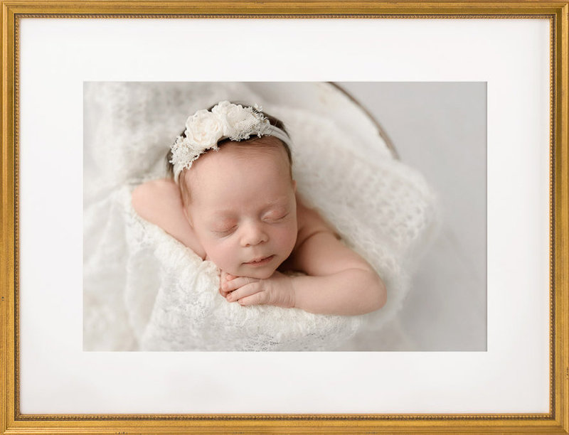 Newborn Photography all white | Salt Lake City, Utah