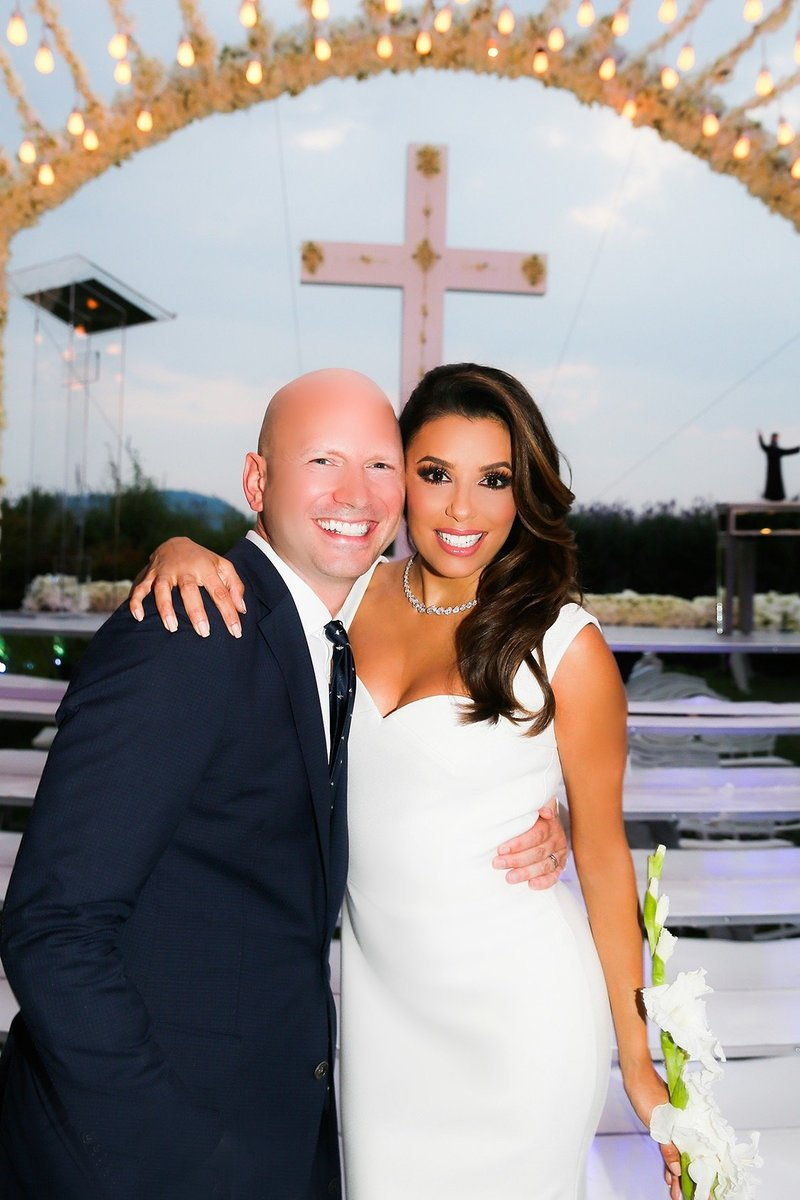 Eva Longoria Wedding - Donna Newman Photo