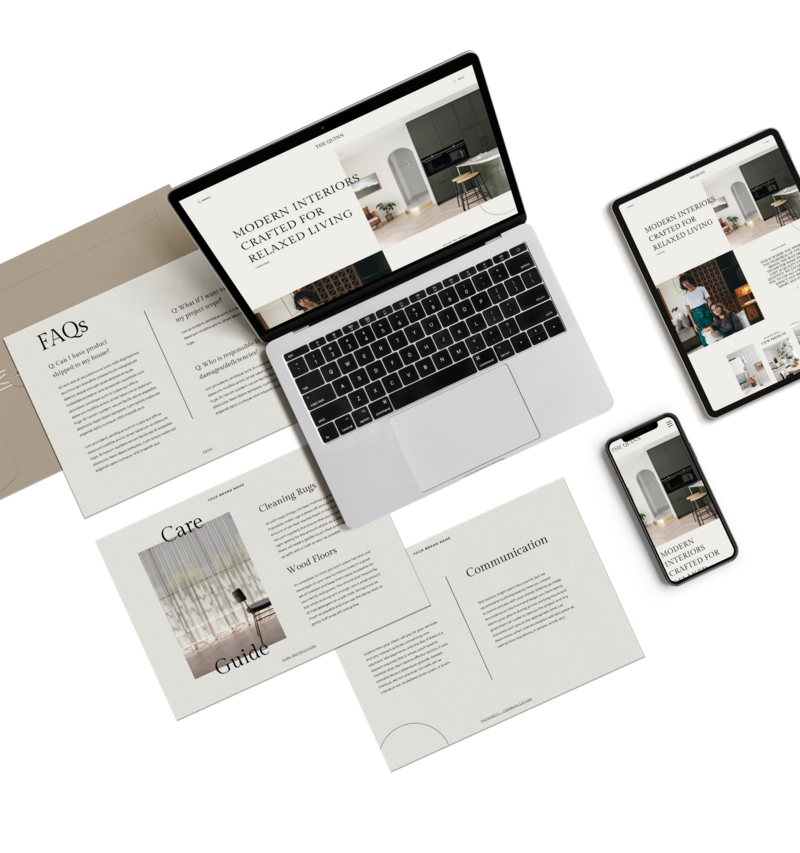 Website templates for interior designers