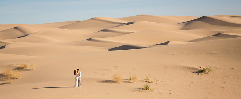 Incredible Panoramic Glamis Sand Dunes Wedding Photo
