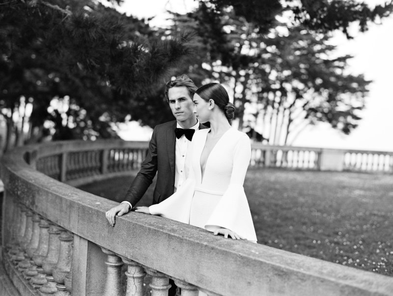 Wedding by Jenny Schneider Events at the Legion of Honor in San Francisco, California. Photo by Leo Patrone Photography.